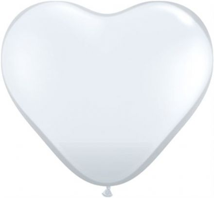3' Jewel Diamond Clear Heart Latex Balloons x 2